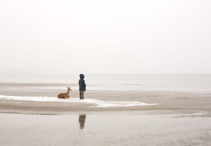"Title: The Wanderer by the Sea from the series ""The Wanderer"" Artist: Nygårds Karin Bengtsson"